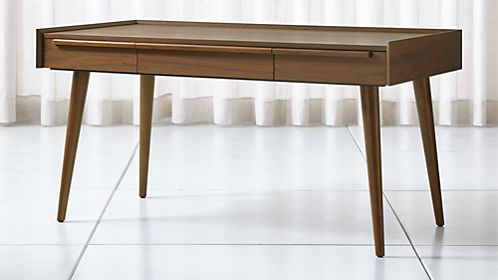 Tate 60 Walnut Desk With Outlet