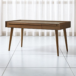 "Tate 60"" Walnut Desk with Power Outlet"