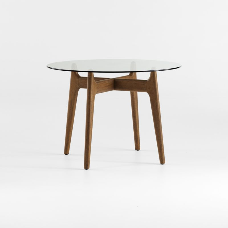 Tate Round Dining Table With Gl Top