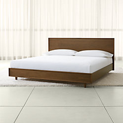 Tate Queen Wood Bed Crate And Barrel