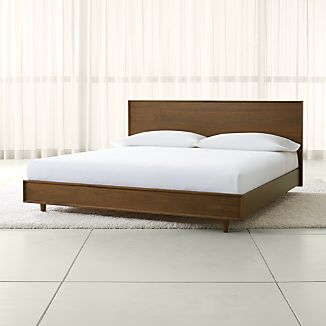 king platform bed upholstered tate king wood bed size platform beds crate and barrel