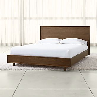 tate wood beds - Wood Bed Frame With Drawers