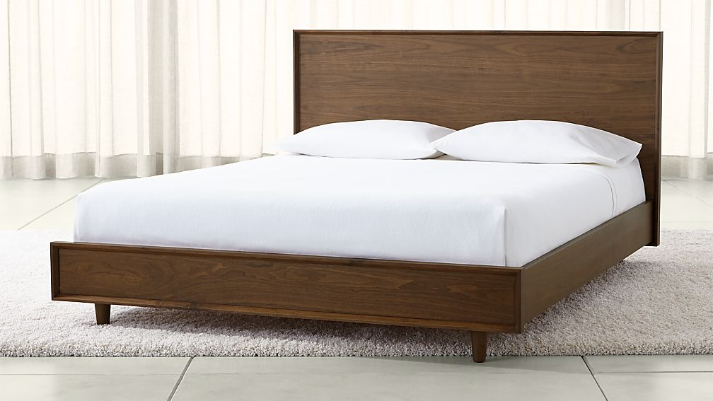 Tate Queen Wood Bed Reviews Crate And Barrel