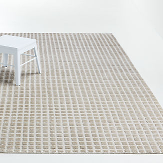Taupe Ombre Viscose Rug