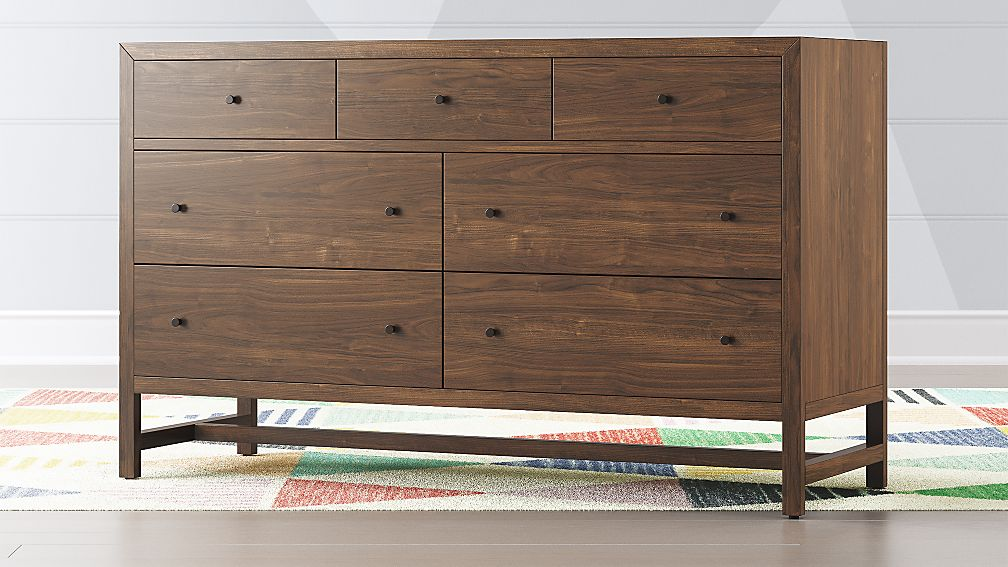 Kids Taylor Walnut 7-Drawer Dresser - Image 1 of 5