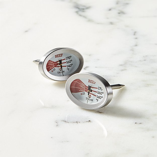 Taylor Beef Button Thermometer, Set of 2