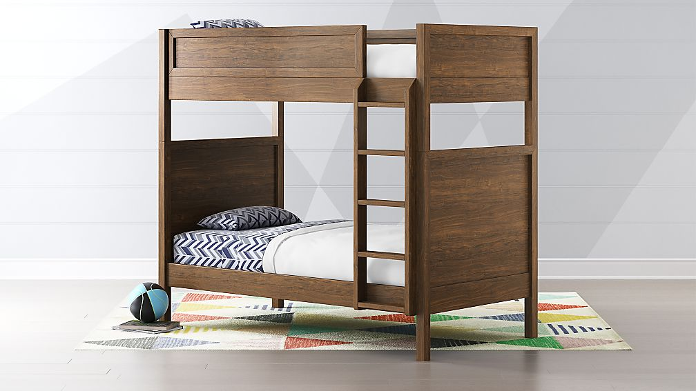 Taylor Twin Walnut Bunk Bed Reviews Crate And Barrel