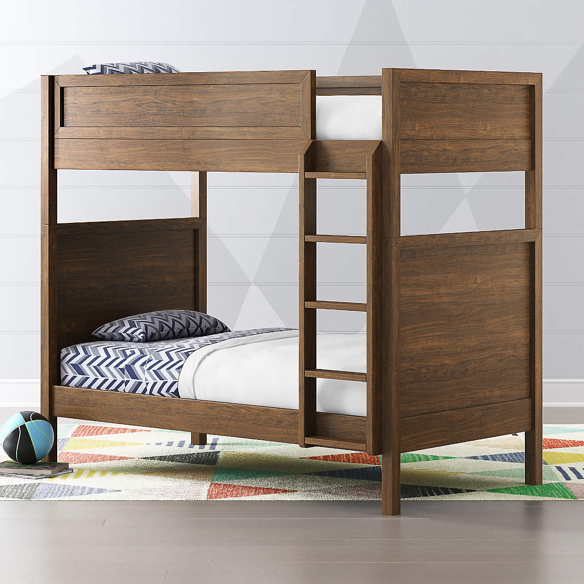 Picture of: Taylor Twin Walnut Convertible Bunk Bed Reviews Crate And Barrel