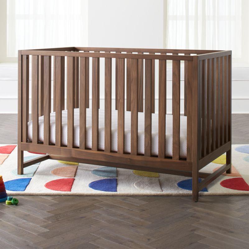 Taylor Walnut Crib Reviews Crate And Barrel