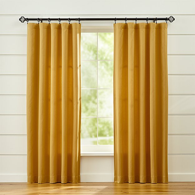 Taylor Gold Curtain Panels | Crate and Barrel