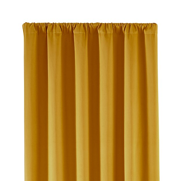 """Taylor 50""""x84"""" Gold Curtain Panel"""