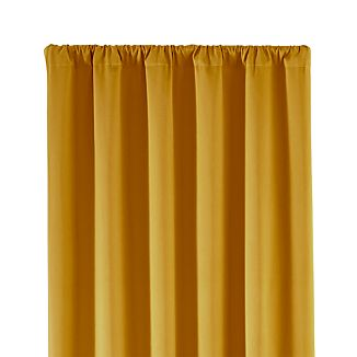 """Taylor 50""""x96"""" Gold Curtain Panel"""