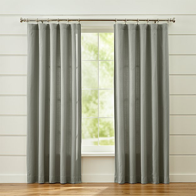 Taylor Grey Curtains. Taylor Grey Cotton Curtains   Crate and Barrel