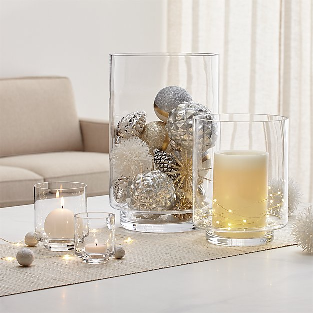 Taylor Glass Hurricane Candle Holders - Image 1 of 12