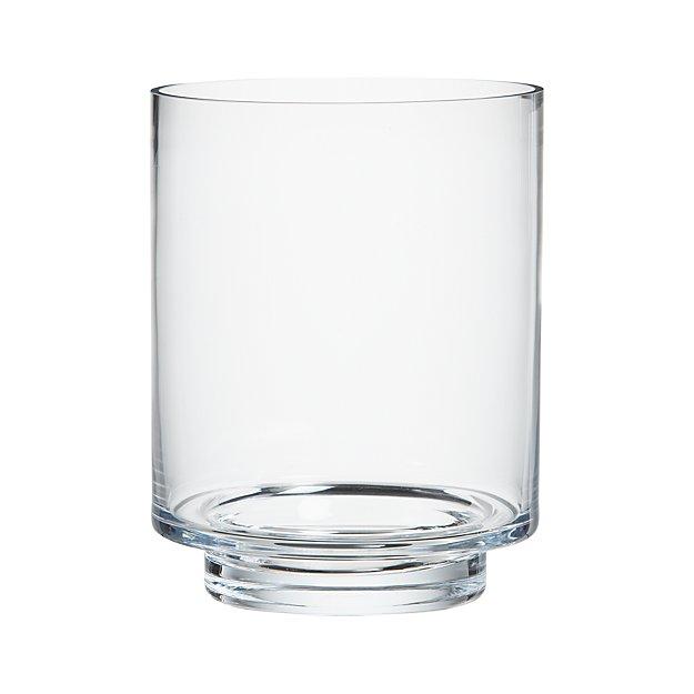Etched Glass Barrel Candle Holder