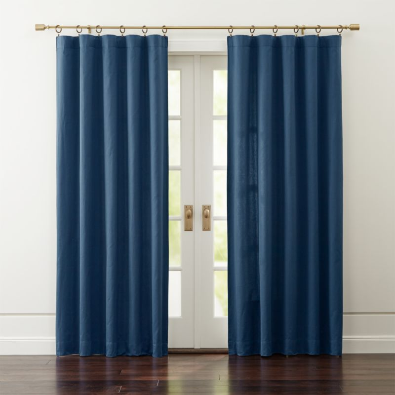 Taylor Midnight Blue Curtains Crate And Barrel