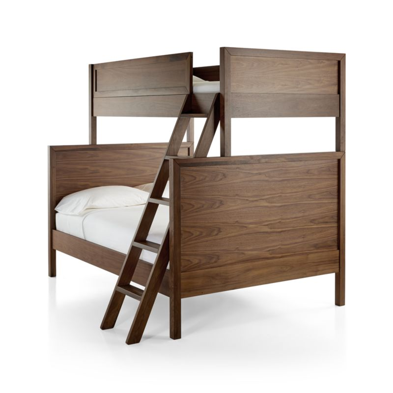 Taylor Twin Over Full Walnut Bunk Bed | Crate and Barrel