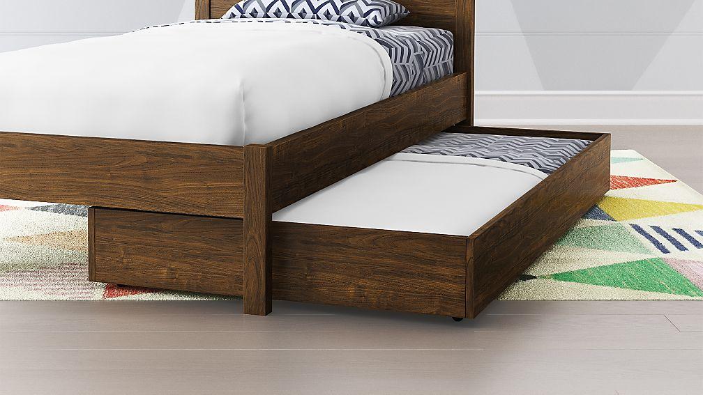 Trundle Bed.Taylor Walnut Trundle Bed
