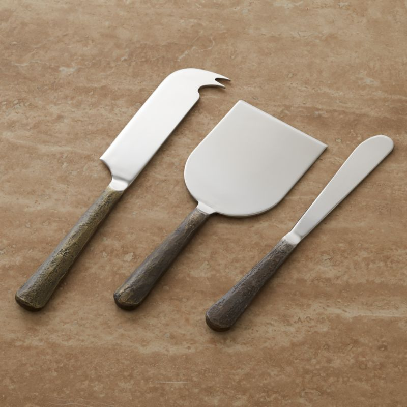 & Taz Cheese Knife 3-Piece Set + Reviews | Crate and Barrel
