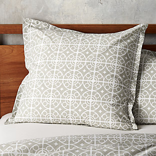 Taza Grey Full Queen Duvet Cover Crate And Barrel