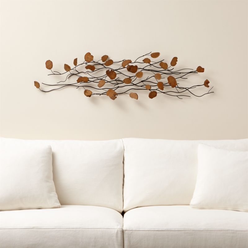 teakroot discs wood wall art