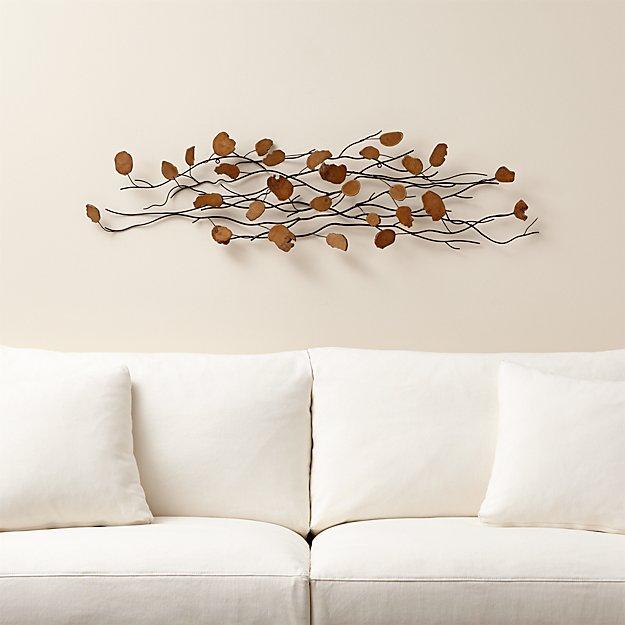 Teakroot Discs Wood Wall Art | Crate and Barrel