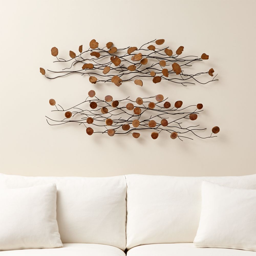 Online Designer Bedroom Teakroot Discs Wall Art, Set of 2