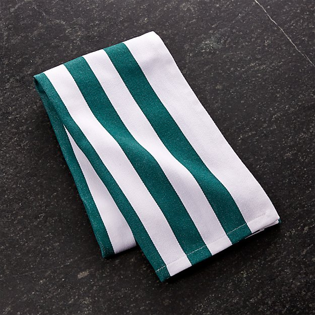 Teal Stripe Dish Towel
