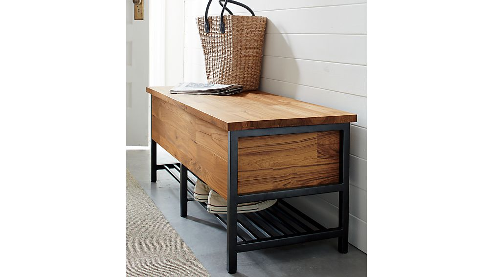 Teca Storage Trunk-Bench