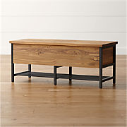 Terrific Storage Benches And Ottomans Crate And Barrel Machost Co Dining Chair Design Ideas Machostcouk