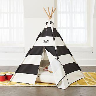 kids room teepee kmart black stripe teepee kids playhouses teepees tents crate and barrel