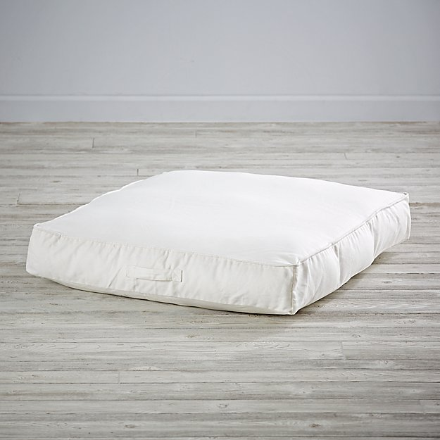 White Teepee Floor Cushion in Bean Bag & Poufs + Reviews Crate and Barrel