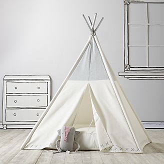 Metallic Silver Teepee  sc 1 st  Crate and Barrel & Playhouses Teepees u0026 Tents | Crate and Barrel