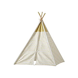 A Teepee to Call Your Own (Gold Metallic)  sc 1 st  Crate and Barrel & Kids Indoor Tents   Crate and Barrel