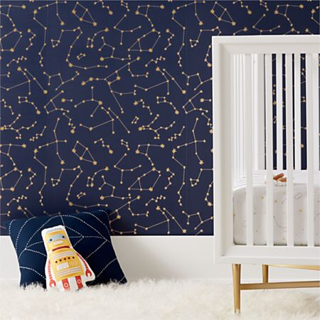 Super Tempaper Constellations Wallpaper Crate And Barrel Beatyapartments Chair Design Images Beatyapartmentscom