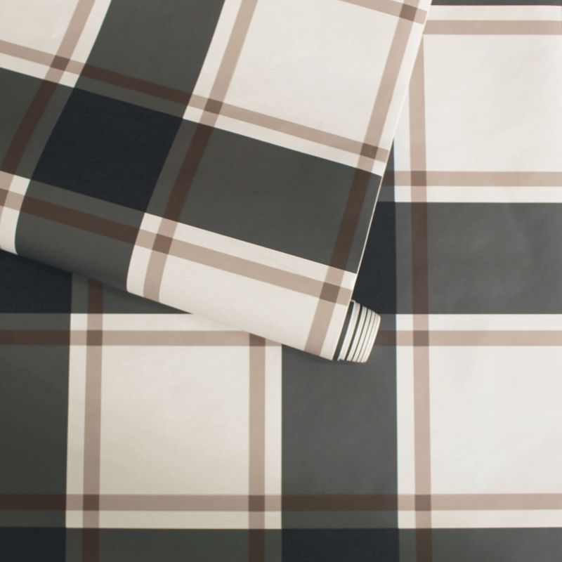 Tempaper Black And Ivory Plaid Removable Wallpaper Crate
