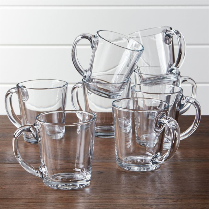 Moderno Clear Glass Coffee Mug Set Of 8 Reviews Crate