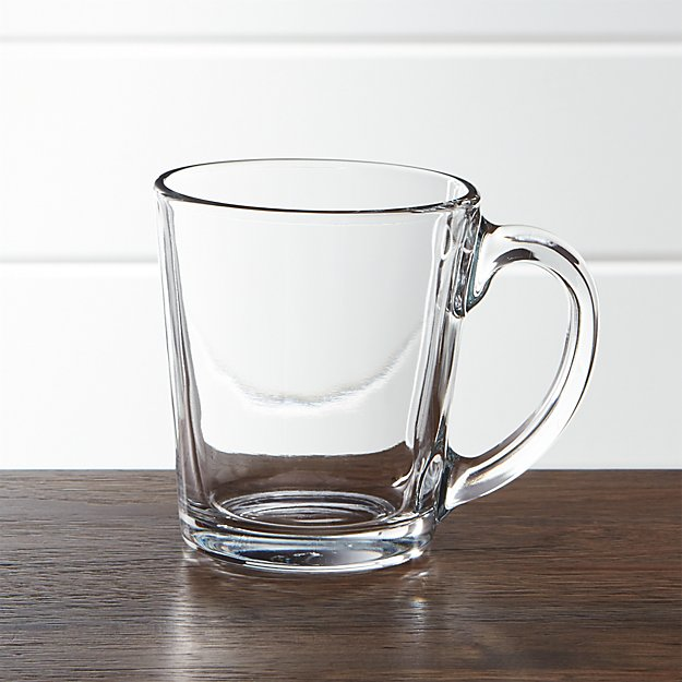 Large Clear Gl Coffee Mugs The Table