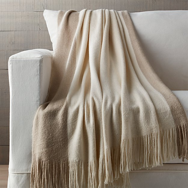 Tepi Neutral Throw Blanket Reviews Crate And Barrel