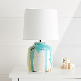 Terra Cotta Drip Glaze Table Lamp