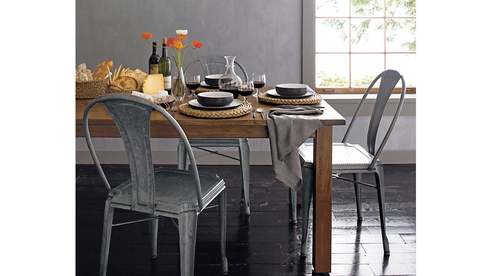 Metal Dining Chairs lyle metal dining chair | crate and barrel