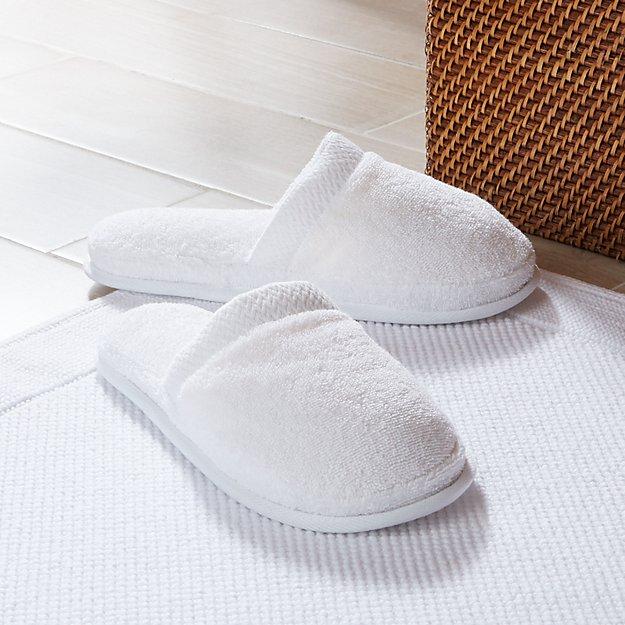 White Turkish Slippers - Image 1 of 5