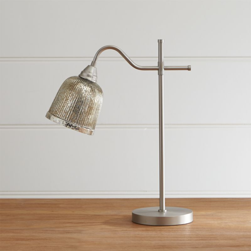 - Tessa Pewter Desk Lamp Crate And Barrel