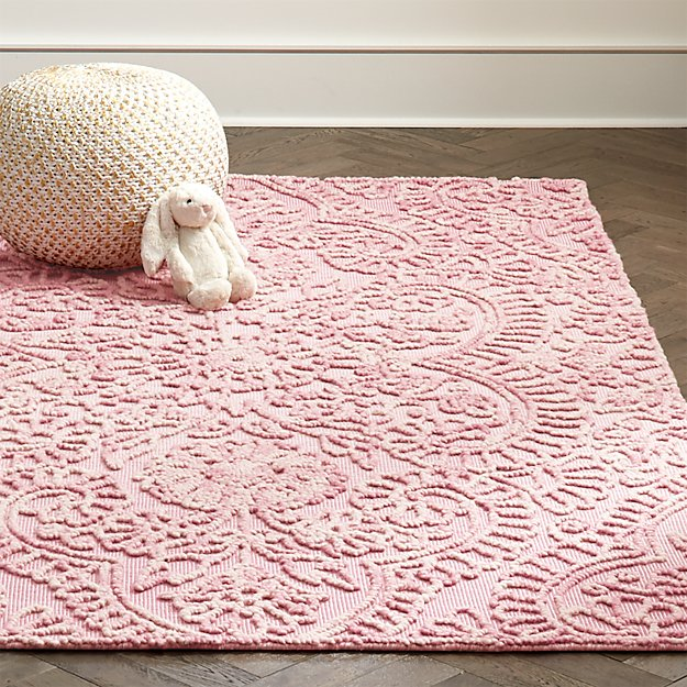 Pink Textured 4 X 6' Rug In All Rugs + Reviews
