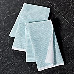 Aqua Textured Terry Dish Towels, Set of 2
