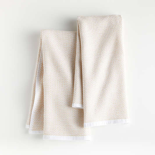 Almond Textured Terry Dish Towels, Set of 2