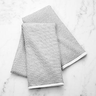 grey textured terry dish towel set of 2 - Kitchen Towel Sets
