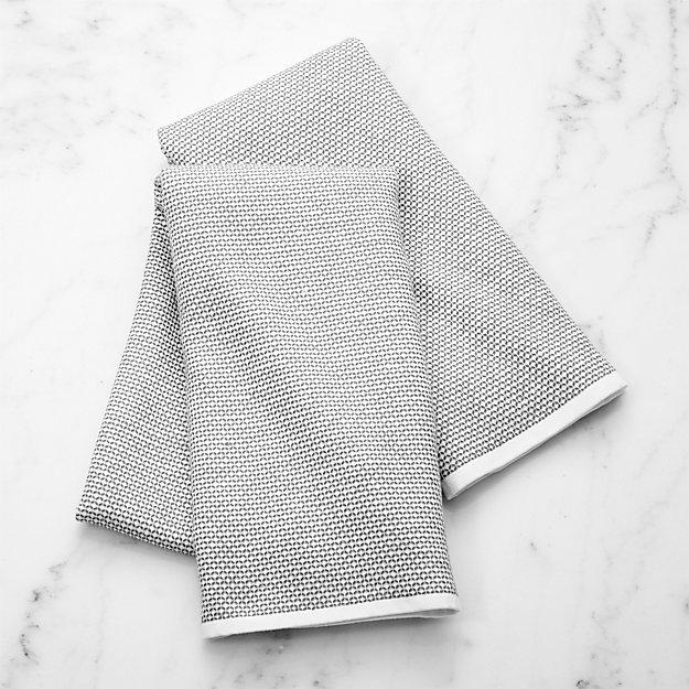 Grey Textured Terry Dish Towel, Set of 2 - Image 1 of 9