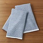 Indigo Textured Terry Dish Towels, Set of 2