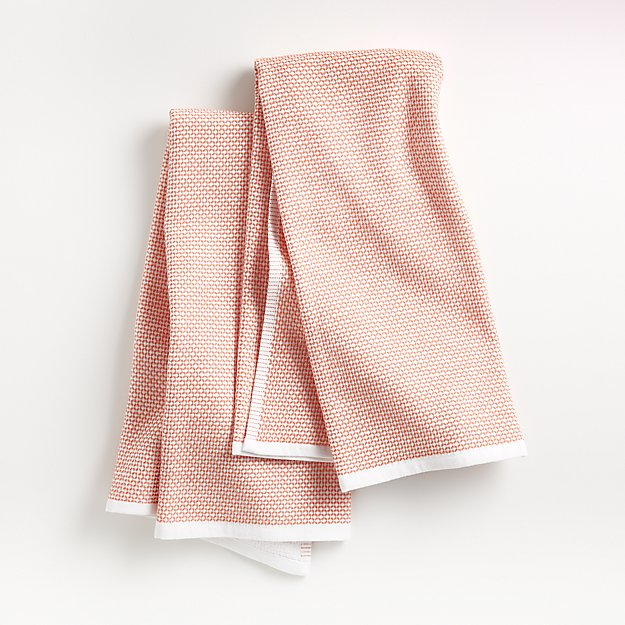 Melon Textured Terry Dish Towels, Set of 2 - Image 1 of 3